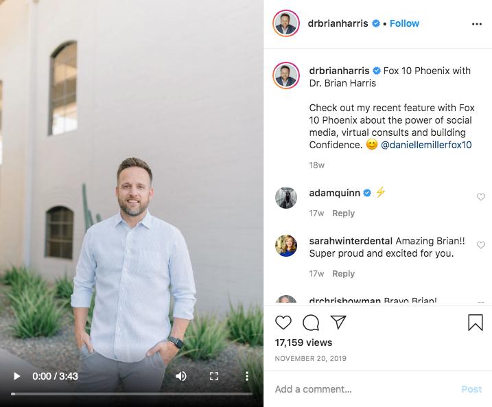 Dr. Harris´s Instagram Post 2